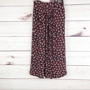 Sk55 Jones NY  geometric pattern midi skirt